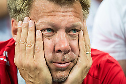 July 12, 2018 - Moscow, Russia - 180712 Fan of England looks dejected after the FIFA World Cup semi final match between Croatia and England on July 12, 2018 in Moscow..Photo: Petter Arvidson / BILDBYRN / kod PA / 92085 (Credit Image: © Petter Arvidson/Bildbyran via ZUMA Press)