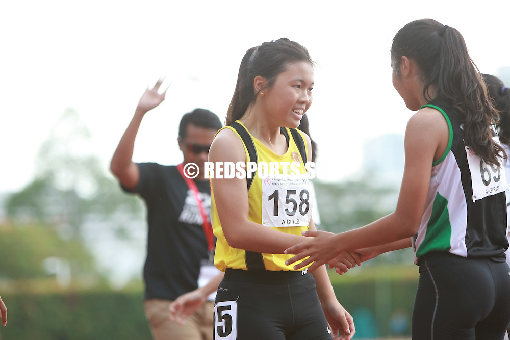 Bishan Stadium, Monday, April 25, 2016 — Amirah Aljunied of Raffles Institution (RI) clocked 26.29 seconds to clinch the A Division Girls' 200 metres gold at the 57th National Schools Track and Field Championships.