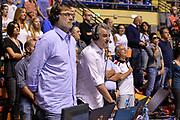 DESCRIZIONE : Beko Supercoppa 2015 Finale Grissin Bon Reggio Emilia - Olimpia EA7 Emporio Armani Milano<br /> GIOCATORE : Davide Pessina Geri de Rosa<br /> CATEGORIA : Ritratto Before Pregame<br /> SQUADRA : Sky TV<br /> EVENTO : Beko Supercoppa 2015<br /> GARA : Grissin Bon Reggio Emilia - Olimpia EA7 Emporio Armani Milano<br /> DATA : 27/09/2015<br /> SPORT : Pallacanestro <br /> AUTORE : Agenzia Ciamillo-Castoria/L.Canu