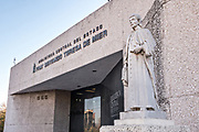 Monterrey Central Library named after Jose Servando Teresa de Mier in the Macroplaza square in the Barrio Antiguo neighborhood of Monterrey, Nuevo Leon, Mexico. Mier was a Dominican friar, writer, orator, revolutionary and independence leader born in Monterrey in 1763.