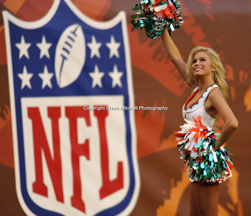 Aug 17, 2009;  Miami, FL, USA; Miami Dolphins cheerleaders perform during a game against the Jacksonville Jaguars at Land Shark Stadium. Mandatory Credit: Steve Mitchell
