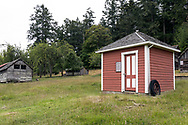 """This building is called """"The Milkhouse"""" and was constructed on the Henry Ruckle farmstead around 1911. Photographed in Ruckle Provincial Park on Saltspring Island, British Columbia, Canada."""