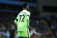 Kelechi Iheanacho of Manchester city wearing his no72 squad number shirt.   Barclays Premier league match, Aston Villa v Manchester city at Villa Park in Birmingham, Midlands  on Sunday 8th November 2015.<br /> pic by  Andrew Orchard, Andrew Orchard sports photography.