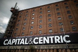 © Licensed to London News Pictures . 26/07/2018. Manchester , UK . Piccadilly Basin development by Capital and Centric in Manchester City Centre . Photo credit : Joel Goodman/LNP