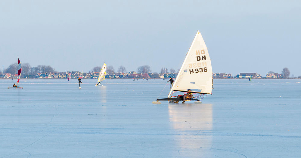 Ice sailing, old tradition in The Netherlands
