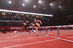 February 7, 2018 - Paris, Ile-de-France, France - Athletes compete during the Athletics Indoor Meeting of Paris 2018, at AccorHotels Arena (Bercy) in Paris, France on February 7, 2018. (Credit Image: © Michel Stoupak/NurPhoto via ZUMA Press)