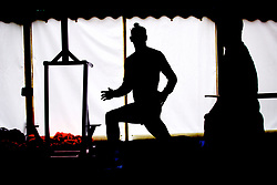 CARDIFF, WALES - Monday, September 3, 2018: A silhouette of Wales' Gareth Bale during a training session at the Vale Resort ahead of the UEFA Nations League Group Stage League B Group 4 match between Wales and Republic of Ireland. (Pic by David Rawcliffe/Propaganda)