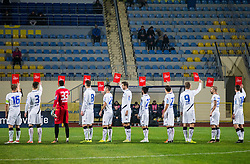 Fair player red card of SPINS during football match between NK Kalcer Radomlje and NK Celje in Round #14 of Prva liga Telekom Slovenije 2016/17, on October 21, 2016 in Sports park Domzale, Slovenia. Photo by Vid Ponikvar / Sportida