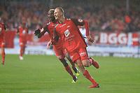 Fotball , 15. sep 2018 , Eliteserien,<br />Haugesund - Brann Bergen<br />Kristoffer Barmen fra Brann Bergen feirer skåring tredje mål mot Haugesund.<br />Foto: Andrew Halseid Budd , Digitalsport