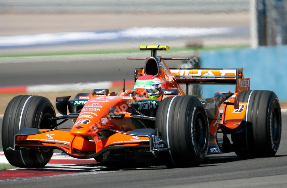 Sakon Yamomoto (Spyker-Ferrari during practice at the 2007 Turkish Grand Prix in Istanbul Park. Photo: Grand Prix Photo