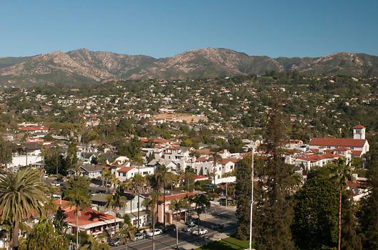 View of Santa Barbara, California, USA