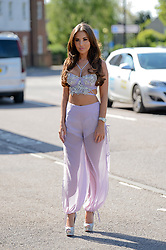 Yazmin Oukhellou celebrates her birthday at Sugar hut, Brentwood with an Arabian Nights party. 03 May 2018 Pictured: Yazmin Oukhellou arrives for her Birthday Party at the Sugar Hut. Photo credit: Martine Xerri / MEGA TheMegaAgency.com +1 888 505 6342