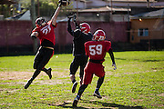 Belo Horiznte_MG, Brasil.<br /> <br /> Treino do time de futebol americano, Minas Locomotiva.<br /> <br /> Training of the American football team, Minas Locomotiva.<br /> <br /> Foto: RAFAEL MOTTA / NITRO