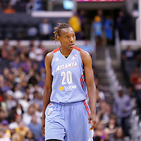 08 August 2014: Atlanta Dream forward Sancho Lyttle (20) is seen during the Los Angeles Sparks 80-77 overtime win over the Atlanta Dream, at the Staples Center, Los Angeles, California, USA.