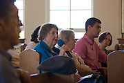 23 August 2014-Santa Barbara, CA: In light of the shooting of Michael Brown in Ferguson Missouri, by a police officer and the unrest it is causing, the MLK Jr. Committee of Santa Barbara is hosting a meeting at Second Baptist Church /God's Open Door in Santa Barbara, CA.  The purpose of the gathering was to allow members of the Santa Barbara community to share their thoughts regarding this unfortunate incident, and to express our collective support for the Brown Family, in their efforts to get justice for the loss of their son.   Photo by Rod Rolle