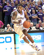 Kansas State's Cartier Martin drives up court against Iowa State in the second half at Bramlage Coliseum in Manhattan, Kansas, February 8, 2006.  K-State defeated the Cyclones 66-63.