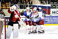 Ishockey , 6. April 2013, GET-Liga ,<br /> Lørenskog Ishockey - Vålerenga Ishockey<br /> Eric Chouinard , Brendan Brooks og Mark McCutcheon jubler for mål<br /> Foto: Sjur Stølen , Digitalsport