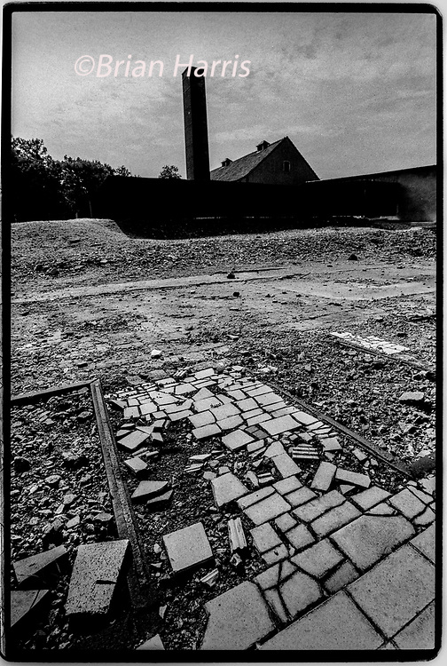Buchenwald Concentration Camp Weimar in Thuringia Germany 1994<br />The crematorium ovens at the camp