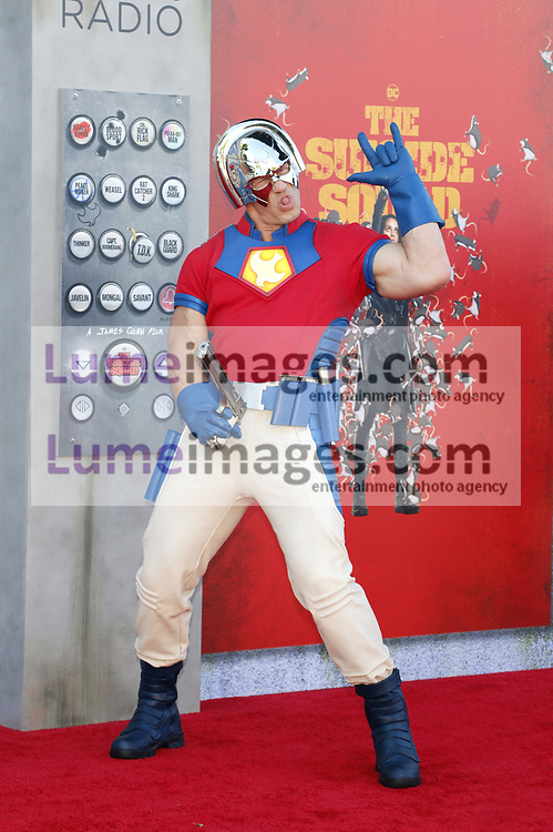 John Cena at the Los Angeles premiere of 'The Suicide Squad' held at the Regency Village Theatre in Westwood, USA on August 2, 2021.