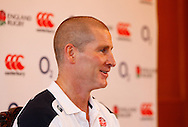 Picture by Andrew Tobin/Focus Images Ltd +44 7710 761829.08/02/2013.Stuart Lancaster, England Head Coach talks during a Press Conference at Pennyhill Park, Bagshot.