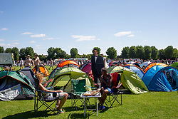 A general view of pitched tents during day one of the Wimbledon Championships at the All England Lawn Tennis and Croquet Club, Wimbledon. Photo credit should read: Katie Collins/EMPICS