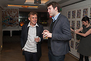 GRAEME SIMSION; JOSH FARRINGTON, Graeme Simsion: The Rosie Project - press launch party. The Ivy Club, , 1-5 West Street, London, WC2H 9NQ,