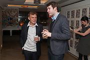 GRAEME SIMSION; JOSH FARRINGTON, Graeme Simsion: The Rosie Project - press launch party. The Ivy Club, , 1-5 West Street, London, WC2H 9NQ,