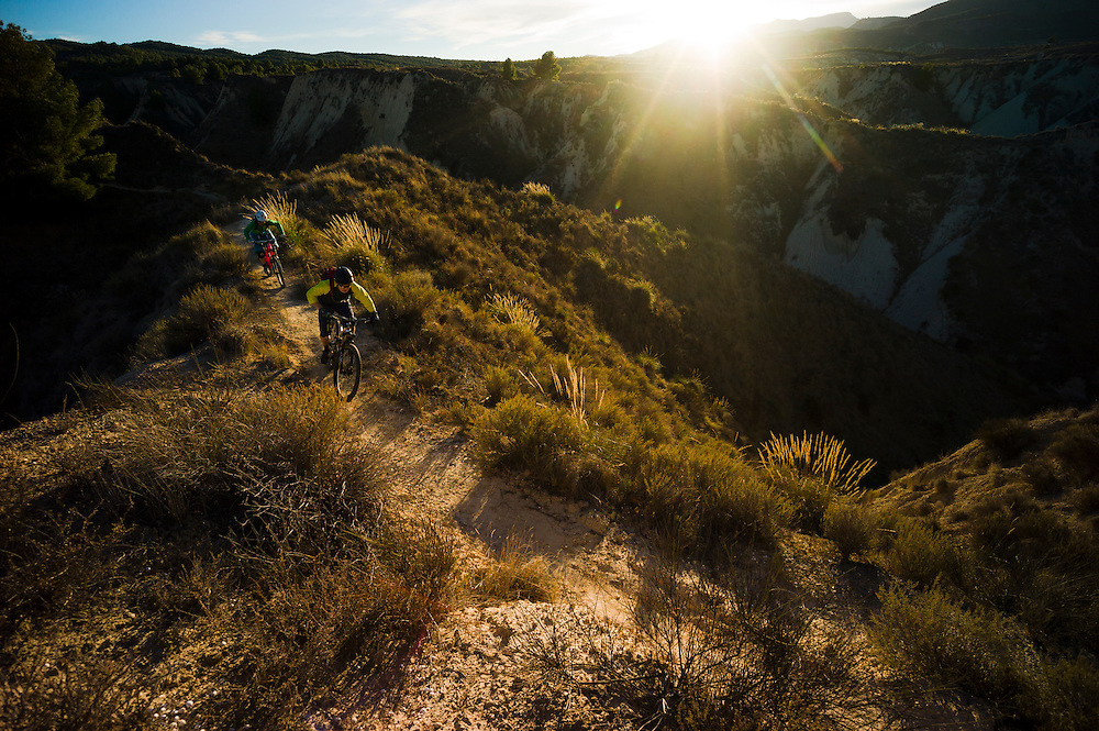 James Richards & Lucy Martin, late session, Sierra Espuna, Spain.