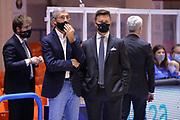 Marino Ferdinando Nando, Giofrè Simone <br /> Happycasa Brindisi - Acqua S.Bernardo Cantù<br /> LegaBasket SerieA  2020-2021<br /> Brindisi 06/12/2020<br /> Foto Michele Longo// Camillo-Castoria
