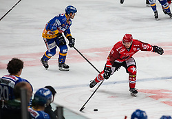 19# Gasper Sersen of Jesenice during ice hockey match between HK SIJ Acroni Jesenice and Asiago Hockey in Round #3 of Alps Hockey League 2018/19 , on September 22, 2018 in Podmezakla hall , Jesenice, Slovenia. Photo by Urban Meglic / Sportida