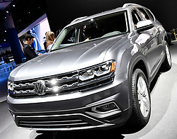 Nov 16, 2016. Los Angeles CA. The new VW SUV Atlas  on display during the media day at the Los Angeles Auto show Wednesday. The show opens to the public on Nov 18th to the 27th.  photos by Gene Blevins/LA DailyNews/ZumaPress. (Credit Image: © Gene Blevins via ZUMA Wire)