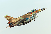 Israeli Air Force (IAF) F-16D (Barak) Fighter jet in flight