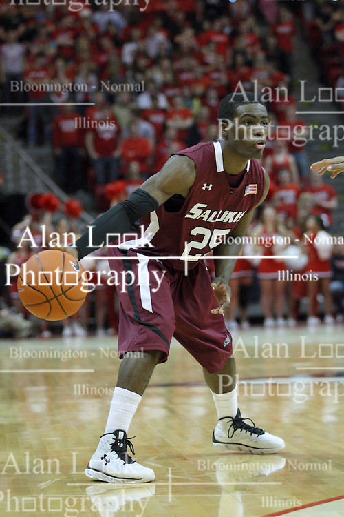 02 February 2013:  Anthony Beane Jr. during an NCAA Missouri Valley Conference mens basketball game where the Salukis of Southern Illinois lost to the Illinois State Redbirds for Retro-Night 83-47 in Redbird Arena, Normal IL