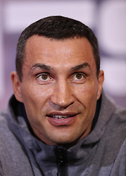 Wladimir Klitschko during a press conference at Sky Sports Studios, Isleworth.