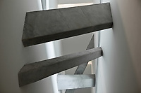 interios and architecture detail of the jewish museum in berlin germany