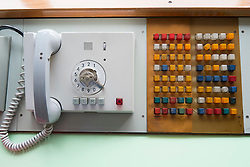 Control office switchboard at offices of East German secret Police now STASI Museum in Berlin Germany