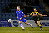 Gillingham FC midfielder Scott Wagstaff (7) and Rotherham United midfielder Jon Taylor (11) during the EFL Sky Bet League 1 match between Gillingham and Rotherham United at the MEMS Priestfield Stadium, Gillingham, England on 17 April 2018. Picture by Martin Cole.