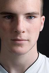 Teenaged boy looking serious,