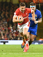 Rugby Union - 2020 Six Nations Championship - Wales vs. Italy<br /> <br /> Rhys Webb of Wales breaks, at the Principality (Millennium) Stadium.<br /> <br /> COLORSPORT/WINSTON BYNORTH