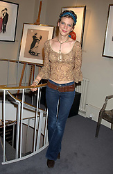 Comedian FRANCESCA MARTINEZ at a private view of fashion designer Lindka Cierach's Couture Dresses drawn by Trudy Good held at the Belgravia Gallery, 45 Albemarle Street, London on 21st September 2005.<br />