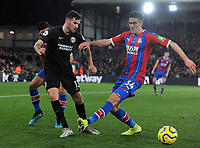 Football - 2019 / 2020 Premier League - Crystal Palace vs. Brighton & Hove Albion<br /> <br /> Pascal Grobb of Brighton and Martin Kelly of Palace, at Selhurst Park.<br /> <br /> COLORSPORT/ANDREW COWIE