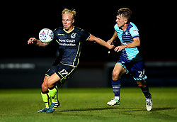 Ryan Broom of Bristol Rovers takes on Jack Williams of Wycombe Wanderers - Mandatory by-line: Robbie Stephenson/JMP - 29/08/2017 - FOOTBALL - Adam's Park - High Wycombe, England - Wycombe Wanderers v Bristol Rovers - Checkatrade Trophy