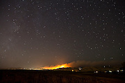 Nighttime view of the Fourmile Canyon Fire, Boulder County, Colorado, as seen from near the Boulder Reservoir on September 6, 2010. The blaze was the most destructive in Colorado history, burning 10 square miles and destroying 169 structures, at least 166 homes.