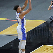ORLANDO, FL - APRIL 12: Wendell Carter Jr. #34 of the Orlando Magic attempts a shot against the San Antonio Spurs at Amway Center on April 12, 2021 in Orlando, Florida. NOTE TO USER: User expressly acknowledges and agrees that, by downloading and or using this photograph, User is consenting to the terms and conditions of the Getty Images License Agreement. (Photo by Alex Menendez/Getty Images)*** Local Caption *** Wendell Carter Jr.