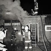 NLD/Hilversum/19890318 - Brand Hilversum Leeuwenhoekstraat