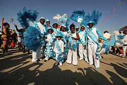 01 May 2015. New Orleans, Louisiana.<br /> The New Orleans Jazz and Heritage Festival. <br /> Members of the Original Seven Social and Pleasure Club.<br /> Photo; Charlie Varley/varleypix.com