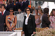 Bianca Jagger. Cartier International Day at Guards Polo Club, Windsor Great Park. July 24, 2005. ONE TIME USE ONLY - DO NOT ARCHIVE  © Copyright Photograph by Dafydd Jones 66 Stockwell Park Rd. London SW9 0DA Tel 020 7733 0108 www.dafjones.com