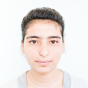 Shahed Elias Khadeda a 16 year old Yazidi from Siba Sheikh Khidir, northern Iraq.<br /> <br /> <br /> <br /> This is a series of portraits of Yazidi refugees who were stranded since April 2016 in Greece.  All of them survived the Yazidi Genocide by ISIS in August 2014 and most of them have lost family members.