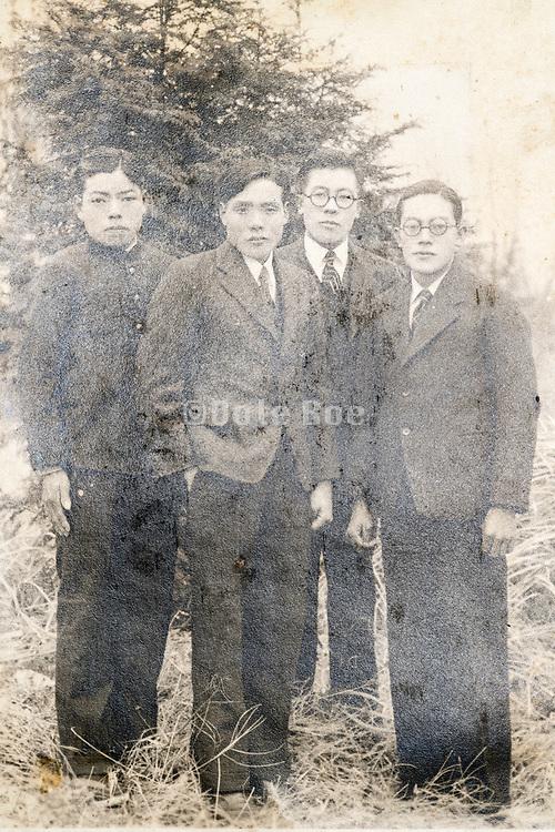 students group portrait Japan ca 1940s