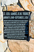 Interpretive plaque at the General Patton Memorial Museum, Indio, California USA